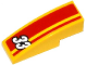 Part No: 50950pb080  Name: Slope, Curved 3 x 1 No Studs with White '33' and Red Stripes Pattern (Sticker) - Set 60082