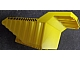 Part No: 52045pb01  Name: Vehicle, Tipper Bed 32 x 16 x 10 2/3 with Black and Yellow Danger Stripes Pattern on Front and Both Sides (Stickers) - Set 7344