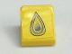Part No: 54200pb023  Name: Slope 30 1 x 1 x 2/3 with Gray Drop Pattern (Sticker) - Set 8161