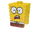 Part No: 54872pb02  Name: Minifigure, Head Modified SpongeBob SquarePants with Open Downturned Mouth Pattern