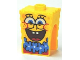 Part No: 54872pb10  Name: Minifigure, Head Modified SpongeBob SquarePants with Open Smile Large and Blue Lei Pattern