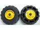 Part No: 55981c04  Name: Wheel 18mm D. x 14mm with Pin Hole, Fake Bolts and Shallow Spokes with Black Tire 37 x 18R (55981 / 56891)