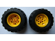 Part No: 56908c01  Name: Wheel 43.2mm D. x 26mm Technic Racing Small, 6 Pin Holes with Black Tire 81.6 x 38 R Balloon (56908 / 45982)