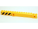 Part No: 57779pb008  Name: Crane Arm Outside, New Wide with Pin Hole at Mid-Point with Black and Yellow Danger Stripes Pattern on Both Sides (Stickers) - Set 4204