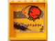 Part No: 59349pb087  Name: Panel 1 x 6 x 5 with Black Grafitti Tag, Red Skull and Large Black Damage Pattern (Sticker) - Set 5972