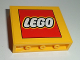 Part No: 60581pb057  Name: Panel 1 x 4 x 3 with Side Supports - Hollow Studs with Lego Logo Pattern (Sticker) - Set 60097