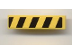 Part No: 61678pb007R  Name: Slope, Curved 4 x 1 No Studs with Black and Yellow Danger Stripes Pattern Right (Sticker) - Set 7968