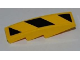 Part No: 61678pb021  Name: Slope, Curved 4 x 1 No Studs with Large Black and Yellow Danger Stripes Pattern (Sticker) - Set 8197