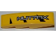 Part No: 61678pb029L  Name: Slope, Curved 4 x 1 No Studs with Silver 'NUTRAX' Pattern Model Left Side (Sticker) - Set 8228