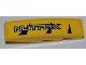 Part No: 61678pb029R  Name: Slope, Curved 4 x 1 No Studs with Silver 'NUTRAX' Pattern Model Right Side (Sticker) - Set 8228