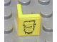 Part No: 6231pb01L  Name: Panel 1 x 1 x 1 Corner with Frankenstein Monster Head Pattern Model Left (Sticker) - Set 8670