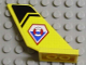 Part No: 6239pb014  Name: Tail Shuttle with Coast Guard Logo and Black Chevron Pattern on Both Sides (Stickers) - Set 7044