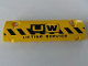 Part No: 62531pb021  Name: Technic, Panel Curved 11 x 3 with Black and Yellow Danger Stripes and 'UW LIFTING SERVICE' Pattern (Sticker) - Set 8258