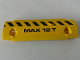 Part No: 62531pb023R  Name: Technic, Panel Curved 11 x 3 with Black and Yellow Danger Stripes and 'MAX 12 T' Pattern Model Right Side (Sticker) - Set 8258