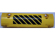 Part No: 62531pb029L  Name: Technic, Panel Curved 11 x 3 with Black and Yellow Danger Stripes Pattern Model Left Side (Sticker) - Set 42030