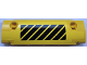Part No: 62531pb029R  Name: Technic, Panel Curved 11 x 3 with Black and Yellow Danger Stripes Pattern Model Right Side (Sticker) - Set 42030