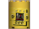 Part No: 6259pb001  Name: Cylinder Half 2 x 4 x 4 with Control Panel 'CODE 82-5/0' Pattern (Sticker) - Sets 8250 / 8299