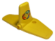 Part No: 62676pb01  Name: Duplo Airplane Cargo Tail with Box and Arrows and Globe Pattern