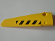 Part No: 64393pb007  Name: Technic, Panel Fairing # 6 Long Smooth, Side B with Black and Yellow Danger Stripes Pattern (Sticker) - Set 8043