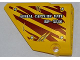 Part No: 64394pb005  Name: Technic, Panel Fairing #13 Large Short Smooth, Side A with  'AERIAL CAPTURE UNIT RP-5886' on Dark Red Tiger Stripes Pattern (Sticker) - Set 5886