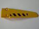 Part No: 64681pb007  Name: Technic, Panel Fairing # 5 Long Smooth, Side A with Black and Yellow Danger Stripes Pattern (Sticker) - Set 8043