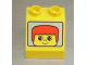 Part No: 6474pb02  Name: Duplo, Brick 2 x 2 Slope 45 with Face with Red Hair Short Pattern