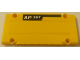 Part No: 64782pb023L  Name: Technic, Panel Plate 5 x 11 x 1 with 'AP 35T' on Black Stripe on Yellow Background Pattern Model Left Side (Sticker) - Set 8264