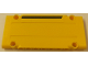 Part No: 64782pb024L  Name: Technic, Panel Plate 5 x 11 x 1 with Black Horizontal Stripe on Yellow Background Pattern Model Left Side (Sticker) - Set 8264