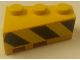 Part No: 6564pb17  Name: Wedge 3 x 2 Right with Black and Yellow Danger Stripes Pattern (Sticker) - Pneumatic Crane Truck