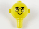 Part No: 685px2  Name: Homemaker Figure Head with Eyes, Glasses and Smile Pattern