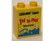 Part No: 76371pb042  Name: Duplo, Brick 1 x 2 x 2 with Bottom Tube with Legoland Japan 1st to Play Member 2016 Pattern