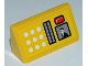 Part No: 85984pb005  Name: Slope 30 1 x 2 x 2/3 with Buttons, Card Swipe and Screen Pattern (Sticker) - Set 8186