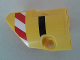 Part No: 87080pb032  Name: Technic, Panel Fairing # 1 Small Smooth Short, Side A with Red and White Danger Stripes and Black Stripe Pattern (Sticker) - Set 8053