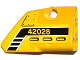 Part No: 87086pb014  Name: Technic, Panel Fairing # 2 Small Smooth Short, Side B with Black and White Stripes, Air Intakes and '42028' Pattern (Sticker) - Set 42028