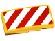 Part No: 93606pb032L  Name: Slope, Curved 4 x 2 No Studs with Red and White Danger Stripes Pattern Model Left Side (Sticker) - Set 60076