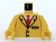 Part No: 973p83c01  Name: Torso Train Suit and Tie Pattern / Yellow Arms / Yellow Hands