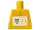 Part No: 973pb0501  Name: Torso German Telekom Yellow Pattern (Stickers)