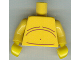 Part No: 973pb0789c01  Name: Torso Bare Chest with Body Lines Pattern / Yellow Arms / Yellow Hands