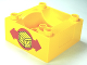Part No: 98456pb03  Name: Duplo, Train Cab / Tender Base with Bottom Tubes with Box and Arrows Pattern on Both Sides