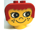 Part No: dup002  Name: Duplo Head Brick with Red Hair and Freckles (Yerk)