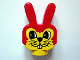 Part No: dupbunnyhead  Name: Duplo Animal Head Bunny Rabbit with Whiskers Pattern