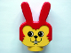 Part No: dupbunnyheadpb2  Name: Duplo Animal Head Bunny / Rabbit with Round Eyes and No Whiskers