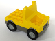 Part No: duptruck02  Name: Duplo Truck with 4 x 4 Flatbed Plate and Wide Wheels