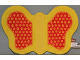 Part No: pri040  Name: Primo Animal Butterfly Wings with Yellow Dots on Red Background