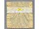 Part No: x1386cx1  Name: Scala Cloth Bedspread with Lace, Yellow Ribbon Bow, and Red Butterflies Pattern