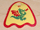Part No: x375px1  Name: Minifigure, Cape Cloth, Round Lobes with Dragon Pattern