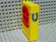 Part No: x635c01pb02  Name: Fabuland Building Wall 2 x 6 x 7 with Round Symmetric Red Window with Horseshoe Pattern (Sticker) - Set 3654