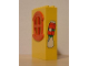 Part No: x635c01pb06  Name: Fabuland Building Wall 2 x 6 x 7 with Round Symmetric Red Window with Juice Carton & Milk Bottle Pattern (Sticker) - Set 3667