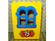 Part No: x637c01pb02  Name: Fabuland Building Wall 2 x 6 x 7 with Squared Blue Window with No 75 Pattern (Sticker) - Set 3675