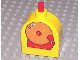 Part No: x836cx1  Name: Duplo Brick with Working Ringer Button on Curved Top, School Bell Pattern